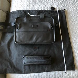 Tumi Black Leather Computer Bag NEW/Never Used